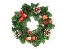 Weihnachtsdekorationen - Girlande Lizenzfreie Stockfotos