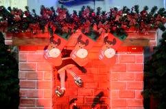 Weihnachtsdekorationen im polnischen Shop Lizenzfreies Stockbild