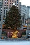 Weihnachtsdekorationen im Rockefeller cente Lizenzfreie Stockfotografie