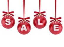 Weihnachtsdekorationen mit dem Wort Verkauf vektor abbildung