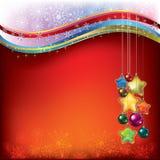 Weihnachtsdekorationen mit Schneeflocken Lizenzfreies Stockfoto
