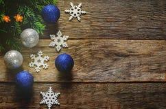 Weihnachtsdekorationen mit Weihnachten Lizenzfreies Stockfoto