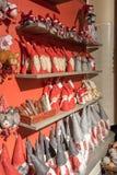 Weihnachtsdekorationen nahe Rovaniemi in Lappland, Finnland lizenzfreies stockfoto