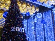 2017 Weihnachtsdekorationen - neues Jahr Lizenzfreies Stockbild