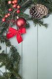 Weihnachtsdekorationen oben Stockfotos
