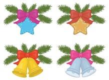 Weihnachtsdekorationen, Satz Stockfotos