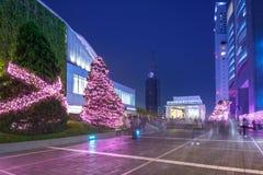 Weihnachtsdekorationen an Shinjuku-Bahnstation von Tokyo Stockbild