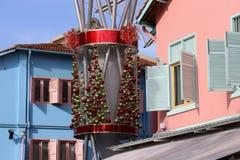 Weihnachtsdekorationen in Singapur Stockbild