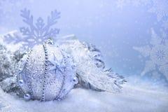 Weihnachtsdekorationen, Textraum Lizenzfreies Stockbild