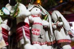 Weihnachtsdekorationen und Seil Retro- Ukraine Lizenzfreies Stockbild