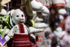 Weihnachtsdekorationen und Seil Retro- Ukraine Lizenzfreie Stockfotografie