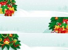 Weihnachtsdekorationen und Weihnachtsgeschenke Stockfoto