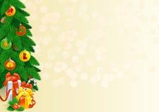 Weihnachtsdekorationen und Weihnachtsgeschenke Stockfotografie