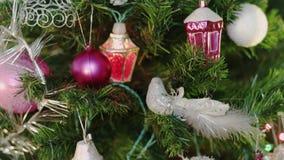 Weihnachtsdekorationen, Vogel stock video footage