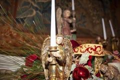 Weihnachtsdekorationengel stockbilder