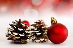 Weihnachtsdekorationhintergrund Stockbild