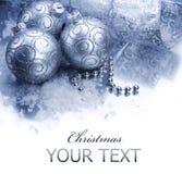 Weihnachtsdekorationrand Stockfoto