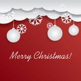 Weihnachtsdekorations-Kartendesign lizenzfreie abbildung