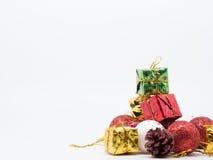 Weihnachtsdekorations-Weißhintergrund Lizenzfreies Stockbild