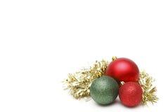 Weihnachtsdekorationseite lizenzfreies stockfoto