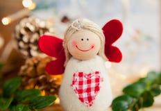 Weihnachtsdekorationsengel Lizenzfreies Stockfoto