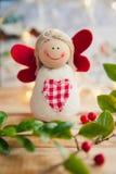 Weihnachtsdekorationsengel Lizenzfreie Stockfotos
