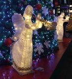 Weihnachtsdekorationsengel in Singapur Stockbild