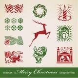 Weihnachtsdekorationset Lizenzfreies Stockbild