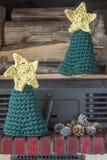 Weihnachtsdekorationshandwerks-Kaminbäume Lizenzfreies Stockbild