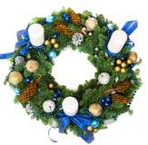 Weihnachtsdekorationskranz Lizenzfreies Stockbild