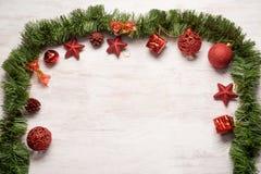 Weihnachtsdekorationsrahmen Stockfoto
