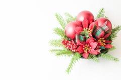 Weihnachtsdekorationsrahmen Stockfotografie