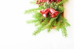 Weihnachtsdekorationsrahmen Stockbild