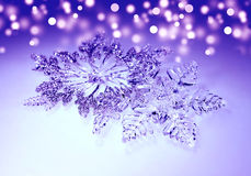 Weihnachtsdekorationsschneeflocken Lizenzfreies Stockfoto