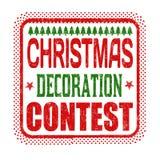 Weihnachtsdekorationswettbewerb-Schmutzstempel Stockbilder