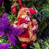 Weihnachtsdekorationszubehör Stockbild