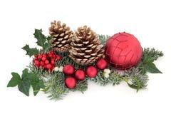 Weihnachtsdekorative Bildschirmanzeige Stockfoto