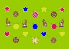 Weihnachtsdekorative Elemente Stockfotografie
