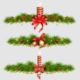Weihnachtsdekorative Elemente Abbildung Stockbild