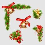 Weihnachtsdekorative Elemente Auch im corel abgehobenen Betrag Lizenzfreie Stockfotos