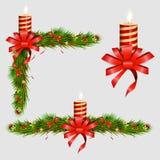 Weihnachtsdekorative Elemente Auch im corel abgehobenen Betrag Stockbild
