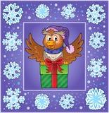 Weihnachtsdekorative Grußkarte 4 Lizenzfreies Stockbild
