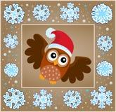 Weihnachtsdekorative Grußkarte 5 Stockbilder