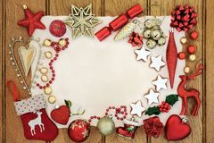 Weihnachtsdekorative Hintergrund-Grenze Stockfotografie