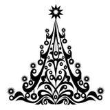 Weihnachtsdekorativer Baum-Vektor Lizenzfreie Stockfotografie