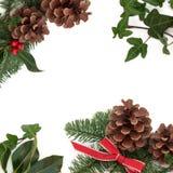 Weihnachtsdekorativer Rand Lizenzfreies Stockbild