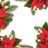 Weihnachtsdekorativer Rand Stockfotografie