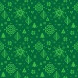 Weihnachtsdekoratives Muster lizenzfreie abbildung