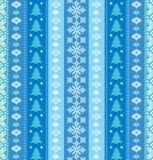 Weihnachtsdekoratives nahtloses Muster Stockfotografie