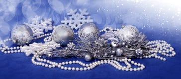 Weihnachtsdekorfahne Lizenzfreie Stockfotografie